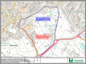 TEMPORARY TRAFFIC REGULATION ORDER FOR THE COMMON, BARWELL ON 1st AUGUST 2018