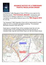 TEMPORARY ROAD CLOSURE - THE COMMON, BARWELL