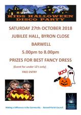 CHILDRENS HALLOWEEN DISCO ON SATURDAY