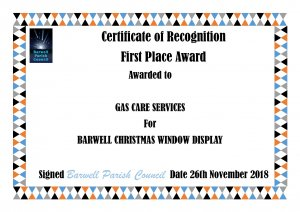 BARWELL CHRISTMAS WINDOW DIAPLAY COMPETITION