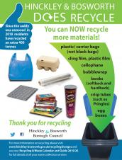 More items can be recycled in your Blue Bins
