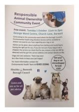 RESPONSIBLE ANIMAL OWNERSHIP COMMUNITY EVENT