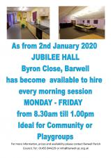 JUBILEE HALL HIRE