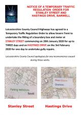 TEMPORARY TRAFFIC ORDER