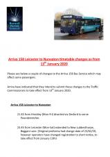 A COUPLE OF CHANGES TO THE ARRIVA 158 SERVICE