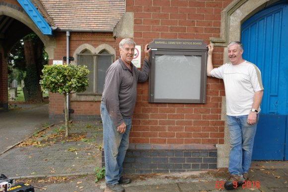 New Cemetery Noticeboard