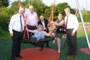 WET POUR REPLACED AT DOVECOTE WAY PARK